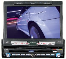 "AM/FM/DVD/CD/MP3 Receiver with Fully Motorized 7"" Wide Screen Display"