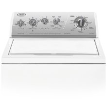 Silver Metallic on White Whirlpool® 27 Cycle, Super Capacity Plus Washer