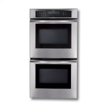 "27"" STAINLESS STEEL DOUBLE CONVECTION/CONVECTION OVEN WITH ROBUST HANDLE"