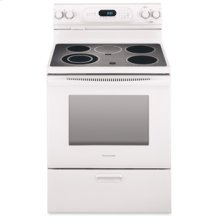30 in. Width 4 Elements Ceramic Glass Cooktop Thermal Oven Electric Freestanding Range(White)