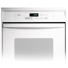 White-on-White 24-Inch Single Built-In Oven