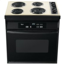 Black-on-Biscuit 30-Inch Standard Clean Drop-In Electric Coil Range