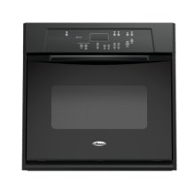 Black-on-Black 27 in. Single Built-In Oven