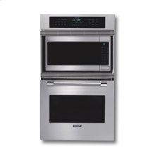 "27"" STAINLESS STEEL DOUBLE OVEN/MICROWAVE WITH PROFESSIONAL SERIES HANDLE"