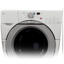 Dove Grey on White Whirlpool® Duet® Front-loading Washer ENERGY STAR® Qualified