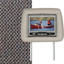 Dual Custom Headrest System with Built-in DVD Player. GMC Envoy, Color is Medium Pewter
