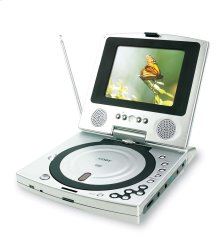 """5"""" TFT PORTABLE DVD PLAYER with BUILT-IN TV TUNER"""