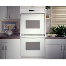 Black-on-Black 24-Inch Double Built-In Oven