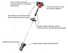 SRM-230 String Trimmer, Weed Trimmer, Powerful Straight Shaft -