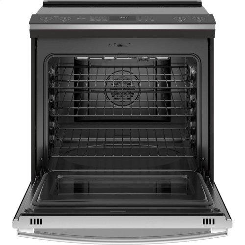 """GE Profile™ 30"""" Slide-In Front-Control Induction and Convection Range"""