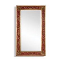 Rectangular Plain Mirror with Gilt Renaissance Decoration (Red)