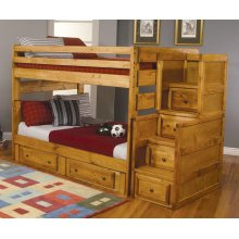 Wrangle Hill Amber Wash Full-over-full Bunk Bed