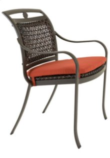 Palladian Woven Stacking Dining Chair with Seat Pad