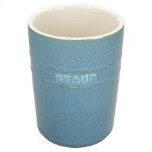 Staub Ceramics Utensil Holder, Rustic Turquoise