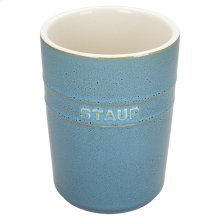 Staub Ceramics Utensil Holder, Rustic Turquoise
