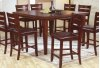 "Square Veneer Top Pub Table - 36"" H"