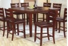 "Solid Wood Barstool w/ cushion - 24""H Product Image"