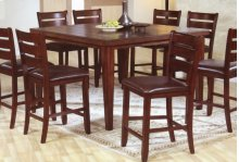 "Solid Wood Barstool w/ cushion - 24""H"