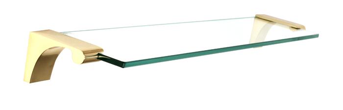 Luna Glass Shelf A6850-18 - Polished Brass