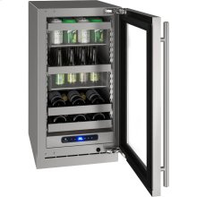 """5 Class 18"""" Beverage Center With Stainless Frame (with Lock) Finish and Right-hand Hinged Door Swing (115 Volts / 60 Hz)"""