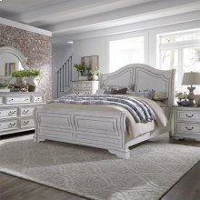 King Sleigh Bed, Dresser & Mirror, Chest, NS
