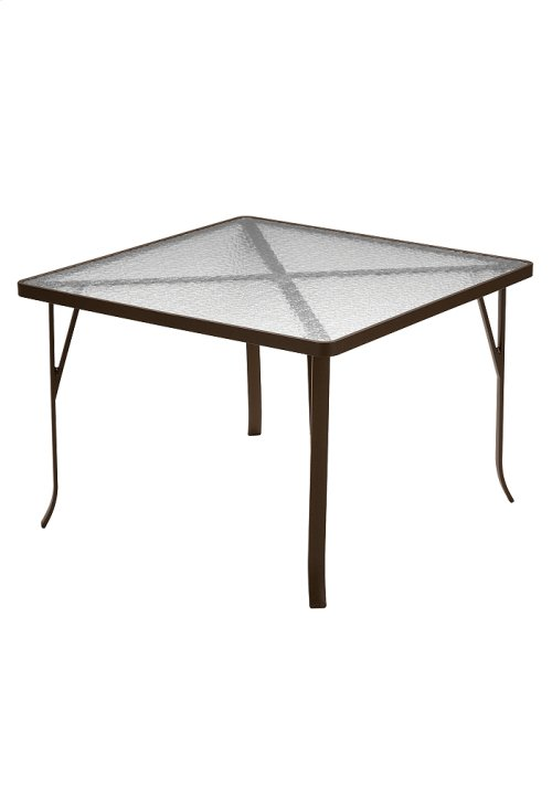 """Acrylic 42"""" Square Dining Table (ADA Compliant)"""