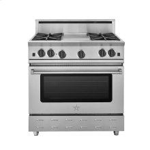 """36"""" RNB SERIES RANGE WITH A 12""""GRIDDLE"""