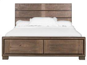 Complete Queen Metal/Wood Panel Storage Bed