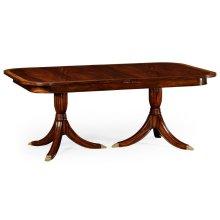 Regency Crotch Mahogany Single Leaf Extending Dining Table