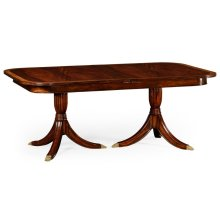 Regency Crotch Mahogany Single Leaf Extending Dining Table