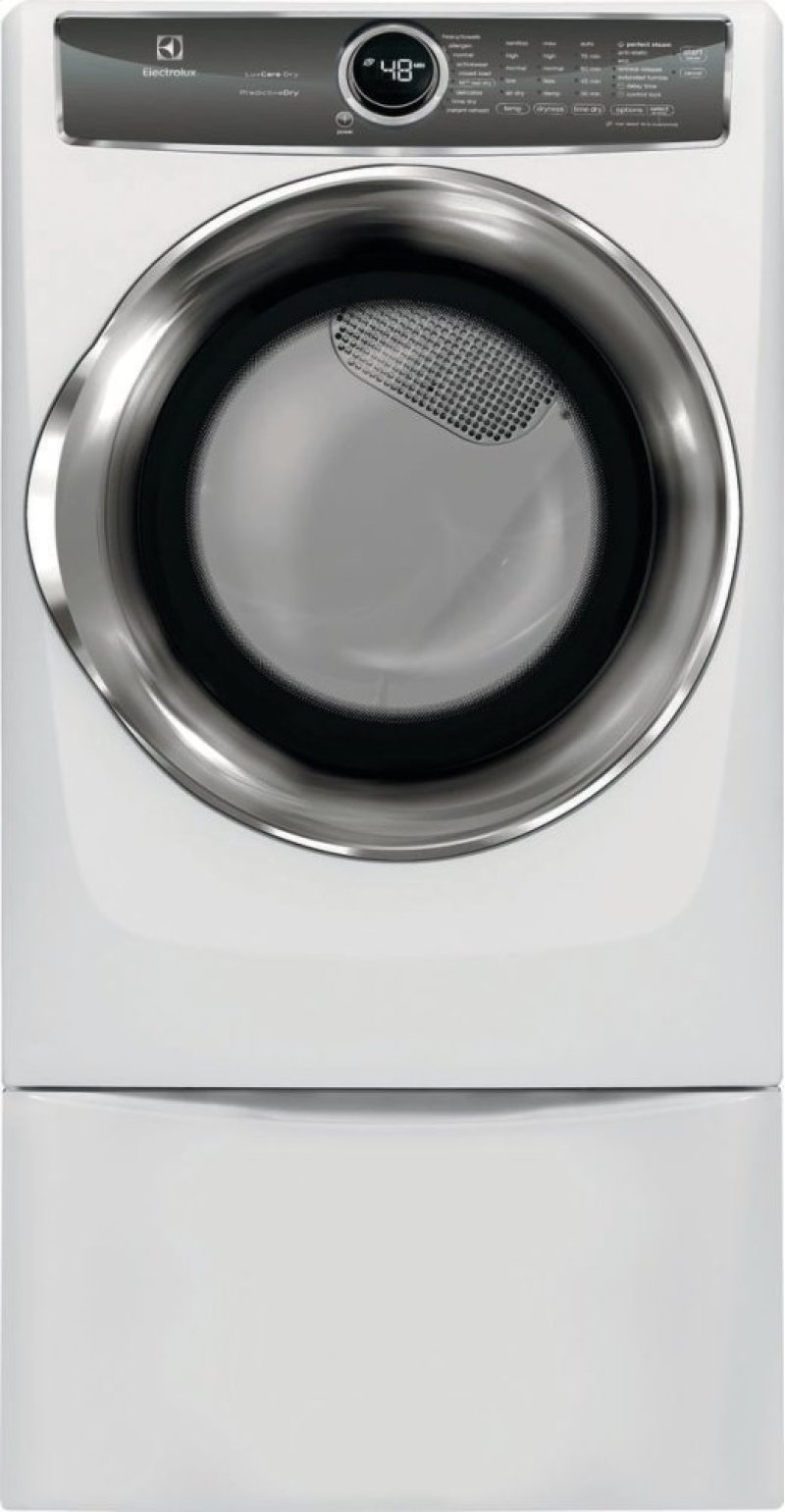 Front Load Perfect Steam Electric Dryer with PredictiveDry and Instant  Refresh - 8 0  Cu  Ft