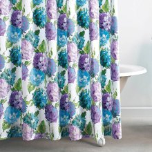 Hydrangea Shower Curtain, BLUE, CURT