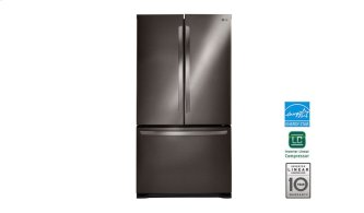 "30"" Black Stainless Steel French Door Refrigerator With Smart Cooling System, 22 Cu. Ft."