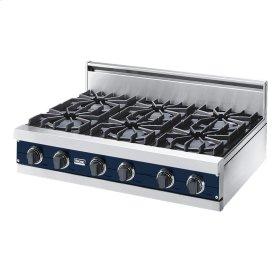 "Viking Blue 36"" Open Burner Rangetop - VGRT (36"" wide, six burners)"