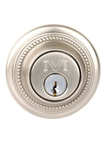 "Beaded Deadbolt 2 3/8"" BS SC"