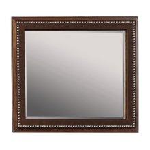 Mirror w/Leather trim