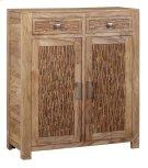 Bengal Manor Mango Wood 2 Drawer, 2 Door Strips of Wood Cabinet Product Image