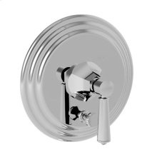 Gloss Black Balanced Pressure Tub & Shower Diverter Plate with Handle. Less Showerhead, arm and flange.