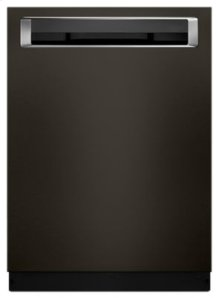44 DBA Dishwashers with Clean Water Wash System and PrintShield™ Finish, Pocket Handle - Black Stainless
