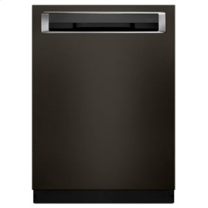 KITCHENAID44 DBA Dishwashers with Clean Water Wash System and PrintShield Finish, Pocket Handle - Black Stainless