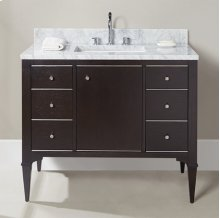 "Charlottesville w/Nickel 42"" Vanity - Door - Vintage Black"