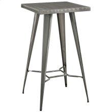 Direct Metal Bar Table in Gunmetal