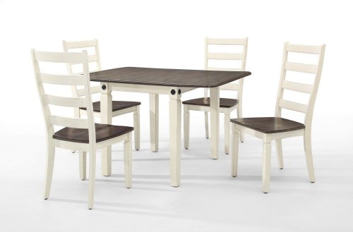 Dining - Glennwood Side Chair  White & Charcoal