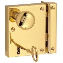 Lifetime Polished Brass 5602 Small Vertical Rim Lock