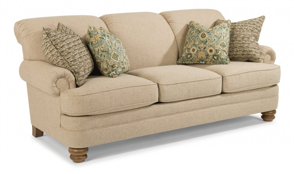 Bon Bay Bridge Fabric Sofa Without Nailhead Trim