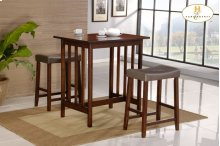 3-Piece Pack Counter Height Set, Cherry Finish