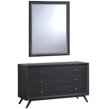 Tracy Dresser and Mirror in Black