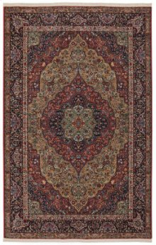 Medallion Kirman Multi Rectangle 4ft 3in X 6ft