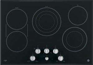 "GE Cafe 30"" Electric Cooktop with Infinite Knob Control"