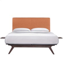 Tracy 3 Piece Full Bedroom Set in Cappuccino Orange